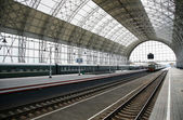 Le train qui arrive à la station — Photo