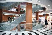 Escalator in the trade center — Stock Photo