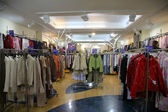 The department of upper clothes in shop — Стоковое фото