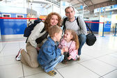Traveling family — Stock Photo