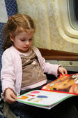 Child airplane book — Stock Photo
