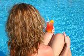 Acqua coctail donna — Foto Stock