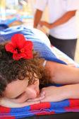 Massaggio donna — Foto Stock