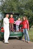Family and car 2 — Stock fotografie