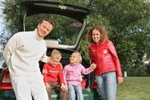 Family and car 3 — Stock Photo