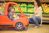 Mother child mart — Stock Photo