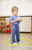 Baby with ball — Stock Photo
