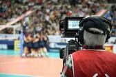 Operador de câmara na competição de esporte — Foto Stock