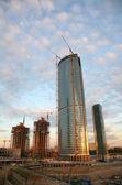 Building of the skyscraper — Stock Photo