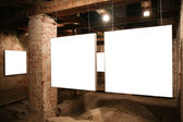 White frames among brick walls 2 — Stock Photo