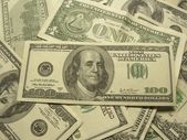 Close-up of dollars — Stock Photo