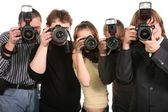 Five photographers 2 — Stock Photo
