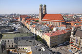 Panorama von münchen mit kathedrale unserer lieben frau — Stockfoto