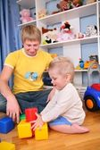 Father and child in playroom 3 — Stock Photo