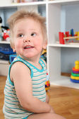 Boy in playroom — Stock Photo