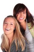 Two girls screaming — Stock Photo