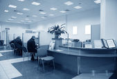 Bank office blue — Stock Photo