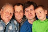 Cuatro generaciones — Foto de Stock