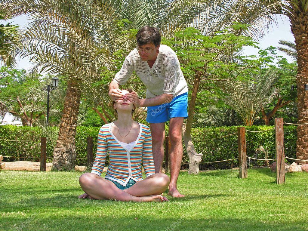 男人女人棕榈草 ― 照片作者