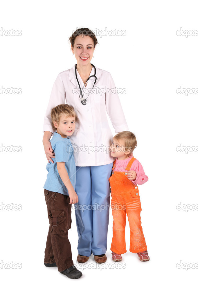 Doctor with children — Stock Photo #7437322