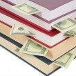 Cup of books with dollars — Stock Photo #7440264