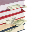 Cup of books with dollars 2 — Stock Photo #7440266