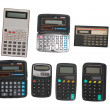 Six calculators - Stok fotoğraf