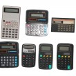 Six calculators — Stock Photo