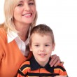 Middleaged woman with boy — Stock Photo