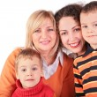 Mother, GrandMother, daughter, son — Stock Photo