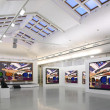 Art gallery 2. all pictures just filtred whole photo — Stockfoto