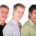 Three friends laughs — Stock Photo #7442094