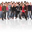 Big group crowd young — Stock Photo