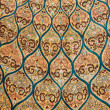 Fragment of carpet with floral ornament — Stock Photo