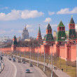 Kremlin embankment — Stock Photo