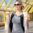 Young blonde in sunglasses — Stock Photo #7442640