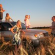 Stock Photo: Family on offroad car