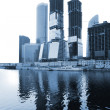 Bulding of skyscrapers near river — Stock Photo #7442998