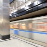 Moving metro train — Stock Photo #7443003