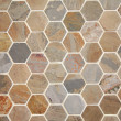Foto Stock: Hexagon pave