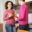 Couple in kitchen — Stock Photo #7443188