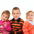 Three children — Stock Photo