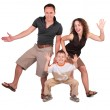 Father, mother and son dance — Stock Photo