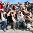 Group of photographers — Stock Photo