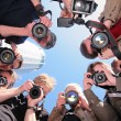 Stock Photo: Photographers on object