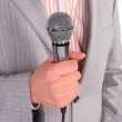 Man with microphone — Stock Photo #7444346