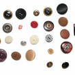 Rows of buttons — Stock Photo