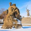Monument to Russian soldiers in Volgograd — Stock Photo