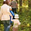 Stock Photo: Family in forest