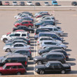 automobiles on parking — Stock Photo
